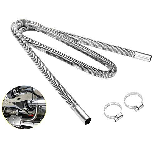 ACAMPTAR 200Cm Auto Luft Standheizung Auspuff Rohr mit 2 Schellen Kraftstofftank Auspuffrohr Schlauch für Roh öL Heizung