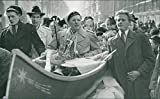 Graduate students in a boat - Vintage Press Photo