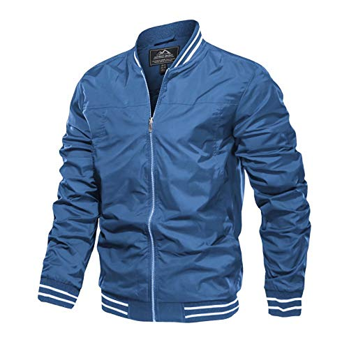 Mens Bomber Jacket Slim Fit Mens Light Jackets for Men Varsity Jacket Casual Jacket Windbeaker Jacket Letterman Jacket Hiking Coat Light Coat