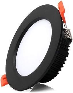 GLBS 3W/5W/7W/10W/12W/18W/21W/24W/30W Ultra Thin Black LED Downlight Living Room Corridor Bedroom Recessed Lighting Alumin...