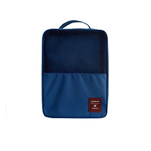 DELEY Voyage Camping Chaussures Sous-Vêtements Storage Bag Organisateur Sac Bleu Foncé