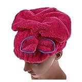 YONGYONGMY Gorros de Ducha 6 Colores Textil Microfibra Hair Turban Baño Rápidamente Seco Pelo Hombrero Ducha Gorras para Las niñas para Mujer Señoras Productos de baño (Color : Dark Red)