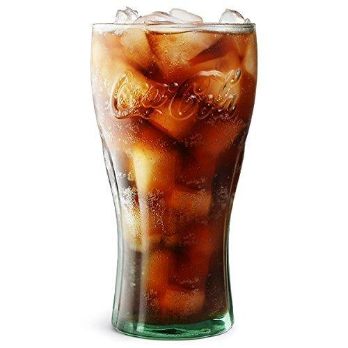 Verre Coca-Cola vert dans une boîte cadeau - 460 ml
