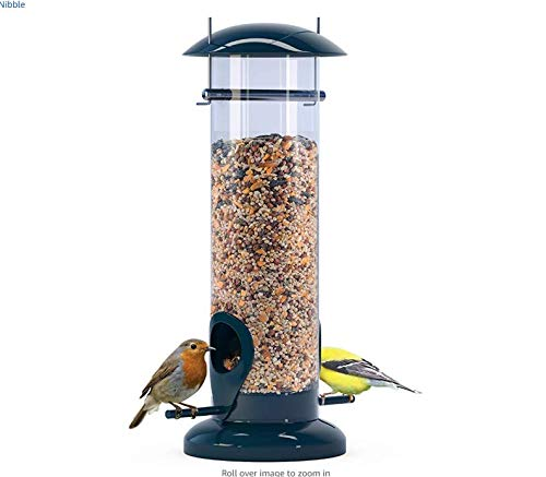winemana Tube Bird Feeder, Squirrel Proof Hanging Wild Bird Feeder for Mix Seed Blends, Detachable...