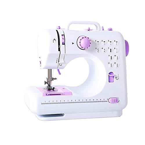 Draagbare elektrische naaimachine, multifunctioneel minihuis met licht, instelbare snelheid, met aanschuiftafel, geschikt voor beginners.