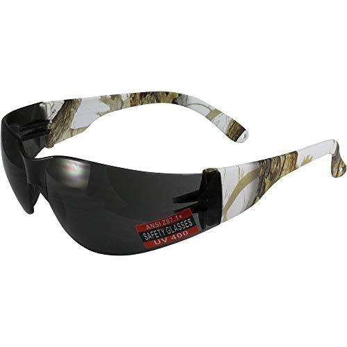 Global Vision Rider Z87.1 - Gafas de sol de seguridad para motocicleta, color blanco