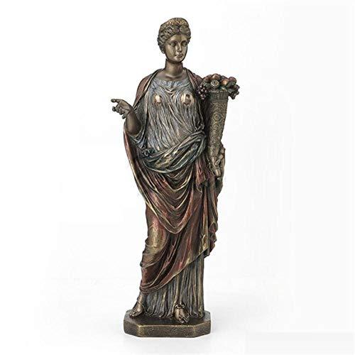 MCXKAL Dekorative Verzierungen Kreative Griechenland Demeter Kunst Skulptur Zwölf Olympians Statue Harz Handwerk Handwerk Dekorationen Für Zuhause Geburtstagsgeschenk, Bunt