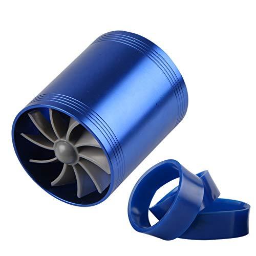 POWLAB Car Air Intake Turbonator Universal Supercharger Double Turbonator Cold Air Intake Fuel Saver Turbo Charge Fan Air Intake Supercharger Turbo Fuel Gas Saver Fan