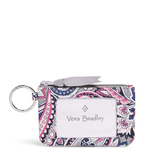 Vera Bradley Women's Wallet Signature Cotton Zip ID Case, Gramercy Paisley, One Size