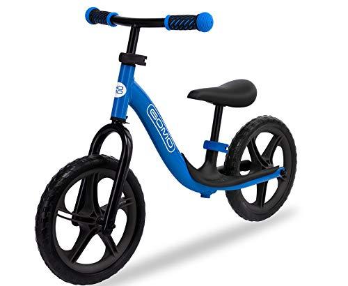 GOMO Bicicletta Bambini 3-5 Anni - Bici Senza Pedali 2 Anni Balance Bike (Blu/Nero)