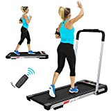 FYC 2 in 1 Under Desk Treadmill - 2.5 HP Folding Treadmill for Home Installation-Free Foldable Treadmill Compact Electric Treadmill Remote Control LED Display Walking Running Jogging for Home Office