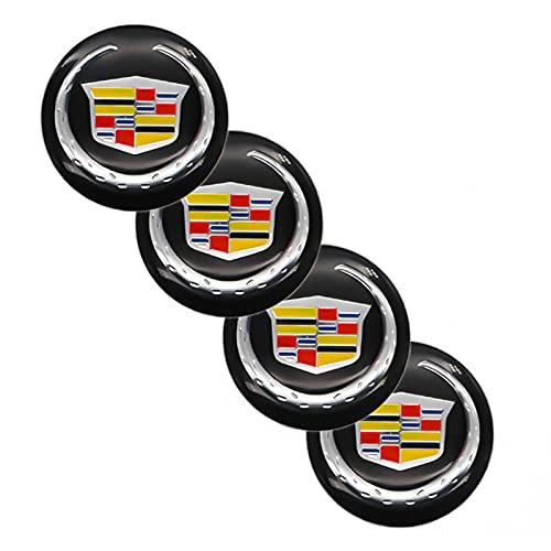 Tapacubos Auto Piezas 4 Piezas DE 56 MM Etiquetas DE Rueda DE Coches Centro Cubre Cubierta DE Cubierto DE Coches Pegatinas de Insignia compatibles con la modificación de Cadillac-Logo