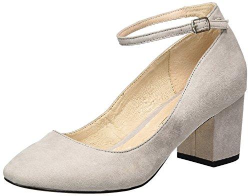 Buffalo Shoes Damen 15P54-1 IMI Suede Pumps, Grau (Grey 17), 39 EU