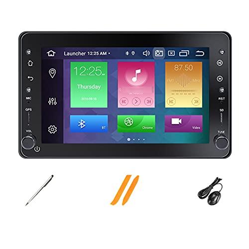HAZYJT 7 ''Android 10.0 Doble DIN Car Stereo Navi Radio Pantalla Coche Compatible con Alfa Romeo 159 Brera Spider Sportwagon Autoradio con Bluetooth/GPS/USB/RCA, Apoyo Mandos Volante