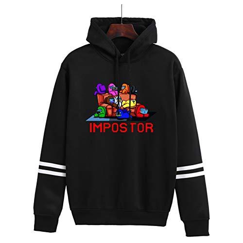 YONGKE Unisex Sudadera con Capucha Hip Hop Juego Alrededor Larga Manga Sweatshirt Ropa de Pareja Streetwear Pullover
