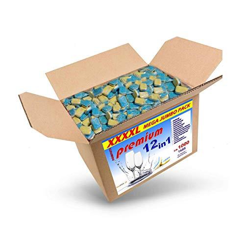 20 Kg (ca.1000 Stück) Spülmaschinentabs 12 in 1 in wasserlöslicher Folie, A-Ware, Qualitätsware für jede Spülmaschine geeignet, Geschirrspültabs, Spültabs