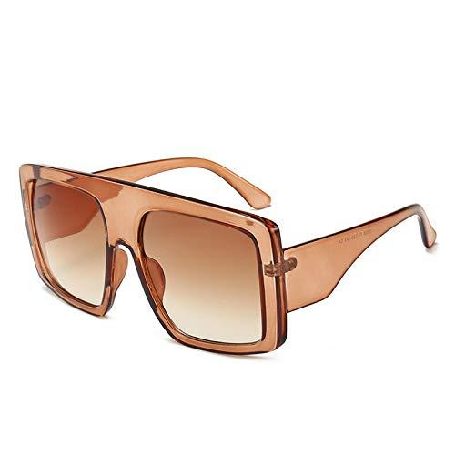 ShZyywrl Gafas De Sol Gafas De Sol Cuadradas De Gran Tamaño Hombres Y Mujeres Gafas De Sol Rectangulares Retro De Moda Cleartea