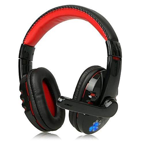 HCHL Schwarzer Roter Kopfhörer Mit Mikrofon-3D-Einfassung, Headset-Mikrofon, Für Laptop-Computer, Headset Zur Drahtlosen Geräuschunterdrückung Für Spiele (Color : Black and red)