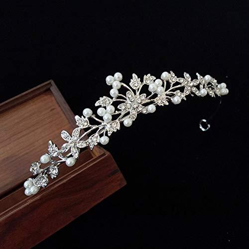 MLDSJQJ Moda Diamante de imitación de Plata Corona Cristal