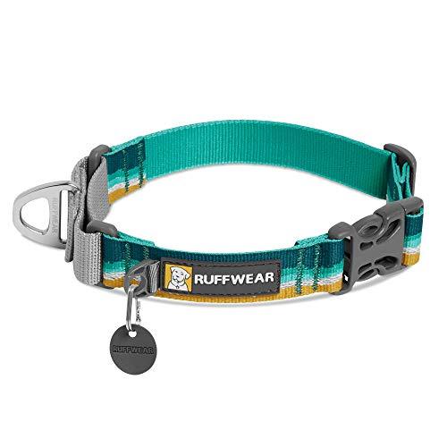 RUFFWEAR - Web Reaction Dog Collar, Martingale Collar for On-Leash Walking, Seafoam, 23'-26'