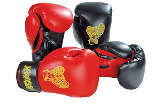 KWON Kinder Cobra Boxhandschuhe Gr. 6 oz schwarz/rot