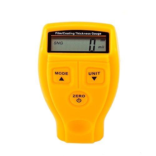 Jajadeal Schichtdickenmessgerät, mini Digital Schichtdicke Meter, Dicke Gauge Messung-mit LCD Display Wireless Tester 0-1,80 mm/0-71,0 Mil für Auto Malerei Verarbeitung Metall Arbeiten