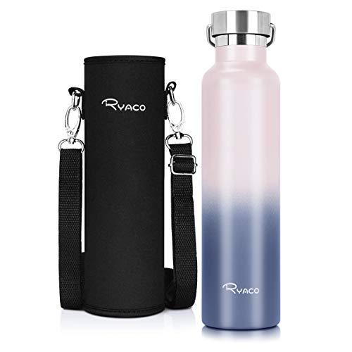 RYACO Bottiglia Termica per Acqua in Acciaio Inox 560ml 750ml 1000ml, Senza BPA, Borraccia Sportiva Sottovuoto a Doppia Parete, Borracce Termiche per Bambini, Scuola, Ufficio, Sport, Palestra
