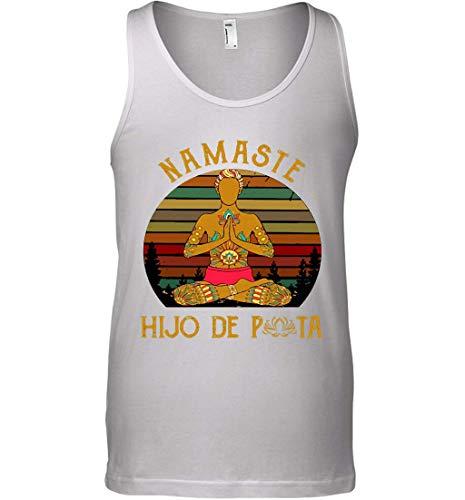 Leet Group Yoga Peace Namaste Hijo De Puta Vintage Tank Top