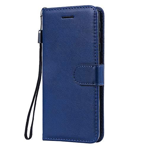 Hülle für Nokia 1Plus Hülle Handyhülle [Standfunktion] [Kartenfach] Tasche Flip Hülle Cover Etui Schutzhülle lederhülle flip case für Nokia 1 Plus - DEKT051420 Blau