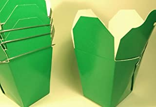 Green Chinese Take-out (Favor) Boxes - 50 Count