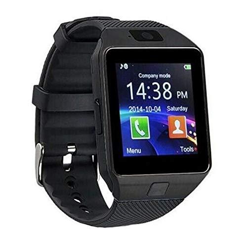 Bluetooth Smart Watch DZ09 Llamada para El Teléfono Android Relogio 2G gsm SIM TF Cámara De La Tarjeta para iPhone Samsung Huawei Bluetooth Smart Watch (Color : Black)