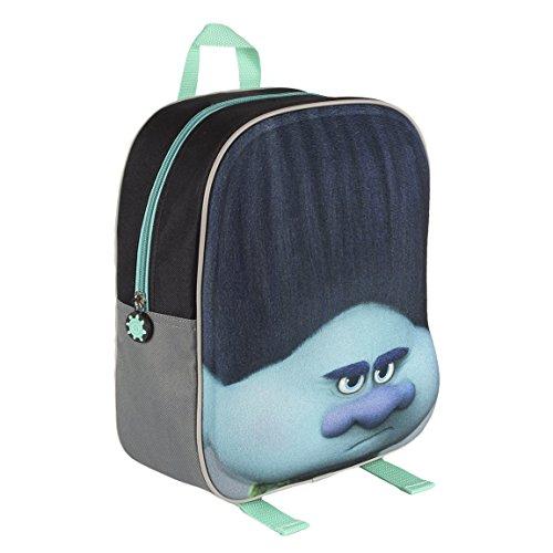 Trolls Zaino per Bambini 2100001572 con FacciaEffetto 3D, 31cm, Colore Blu