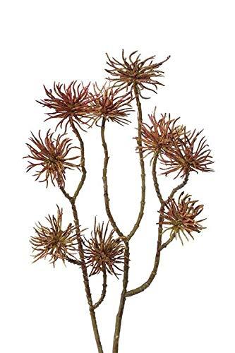artplants.de Künstlicher Zaubernuss Zweig Odin, grün-braun, 60cm - Kunstzweig - Deko Blumen