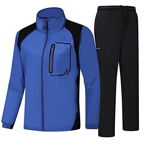 Preisvergleich Produktbild LUCKDE Sportbekleidung Herren,  Sweatjacke + Cargohosen Set Sportjacke Trainingsanzug Jogginganzug Fitness Blousons Outdoorjacke Regenjacke Wasserdicht Atmungsaktiv