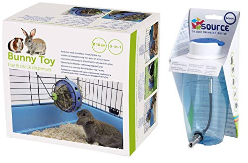 PETGARD Sparpack knaagdrankjes kleine dieren Source 600 ml + slagroop & hurop Bunny Toy