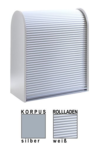 Klenk Dancer Collection - Universalschrank - Korpus: Silber/Rollladen: weiß