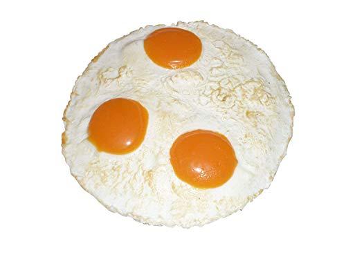 ERRO Huevo de Pascua (3 puntos) falso de plástico – Huevo de Pascua decorativo, imitación de alimentos, idea decorativa inusual, regalo para inauguración de la casa, imitación