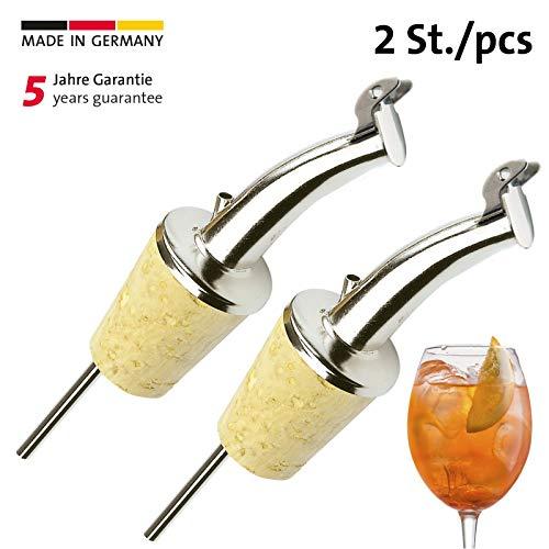 Westmark Pourers Gastro 2 stuks kurk met dop, messing, zilver, 3 x 2 x 7 cm