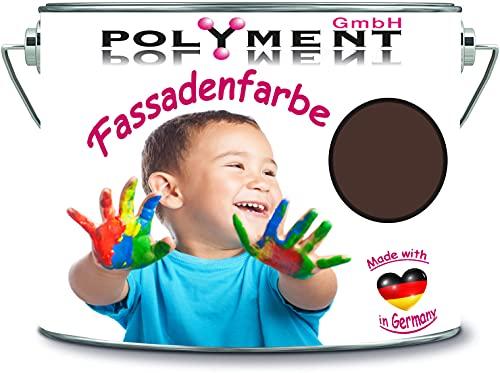 10 litros de resina de silicona de alta calidad, pintura para fachadas, color RAL 8017 marrón chocolate.