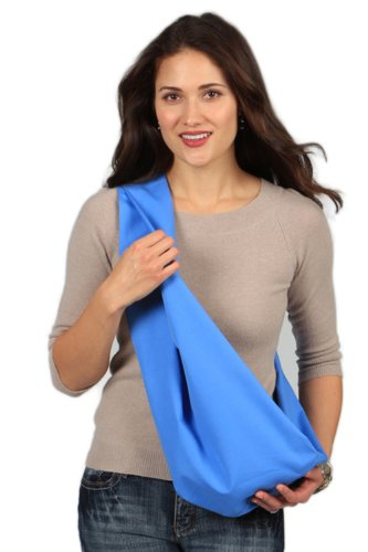 HUGAMONKEY Soft Cotton Durable Pet Sling Carrier for Dogs & Cats Holds Upto 15 lbs - Blue, Large