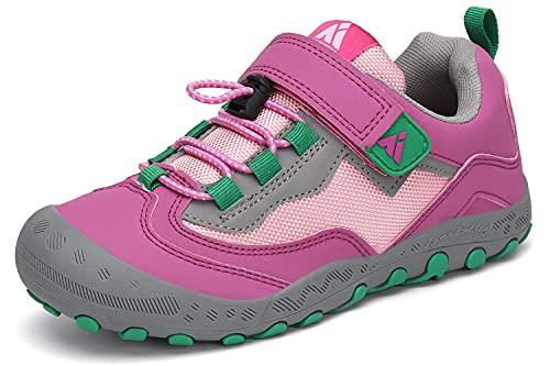 Mishansha Mädchen Trekkingschuhe rutschfest Kinder Wanderschuhe Jungen Weich Sohle Fitnessschuhe Pink 27