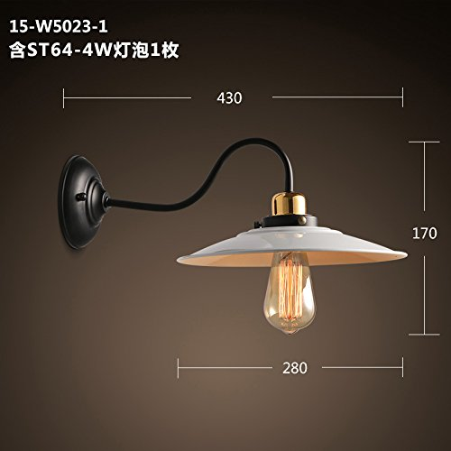LIYAN Minimalist Wall Light Sconce E26/27 Base Bong Town Village Antique lid Industrial Rated loft Wall Lights Cafe Restaurant Fabulous Off The Walls Light,15-W5023-1