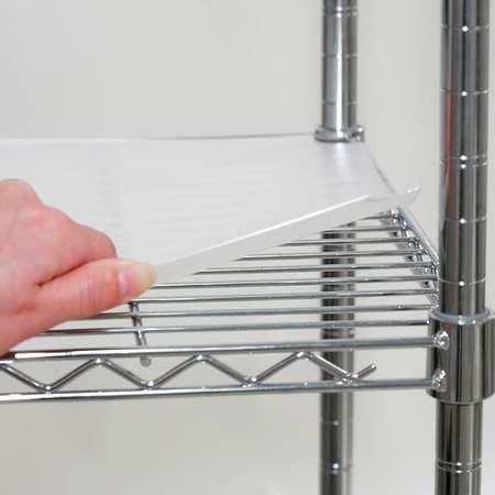 Shelf Liner, 48 x 18 in., Clear, PK4