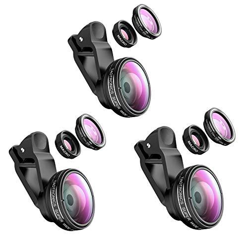 TaoTronics Fisheye Objektiv Handy Clip-On Kamera Adapter für Smartphones 180 Grad Fisheye Objektiv, 10x Macro Objektiv, 0,4X Weitwinkelobjektive-3 stück