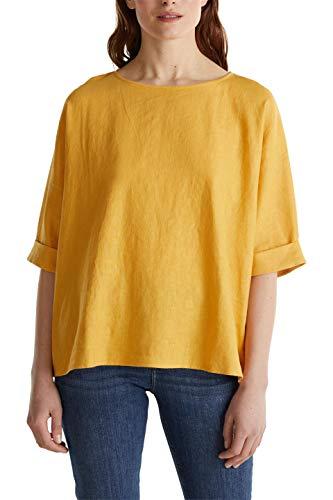 ESPRIT Damen 030EE1F352 Bluse, 710/HONEY Yellow, 38