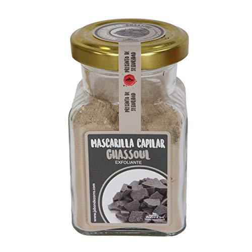 Jabón Zorro D'Avi Mascarilla de Arcilla de Ghassoul en Polvo Mascarilla Facial y Capilar Limpia y Purifica Pieles y Cabellos Grasos - 150 ml