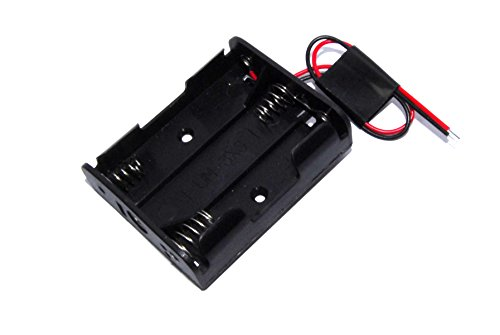 3x AA Batterie Clip 1,5V 4,5V um-3X 3Arduino Shield Schwarz Draht