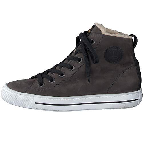 Paul Green Damen Super Soft Schnürschuhe mit Warmfutter, Frauen High Top Sneaker, Sneaker-Stiefelette weiblich Ladies feminin,Grau,6 UK / 39 EU