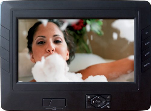 Rollei DF-7 Tragbar Digitaler Bilderrahmen, Fernbedienung, 17,8 cm (7 Zoll) Display, Diashow-Funktion, MP3- und Video und eBook Fuktionen schwarz