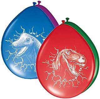 Folat 61855 Dinosaur Balloons - 6 pieces, Multi Colors